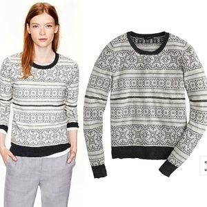 J Crew | Ivory Cashmere Blend Fair Isle Sweater Sm